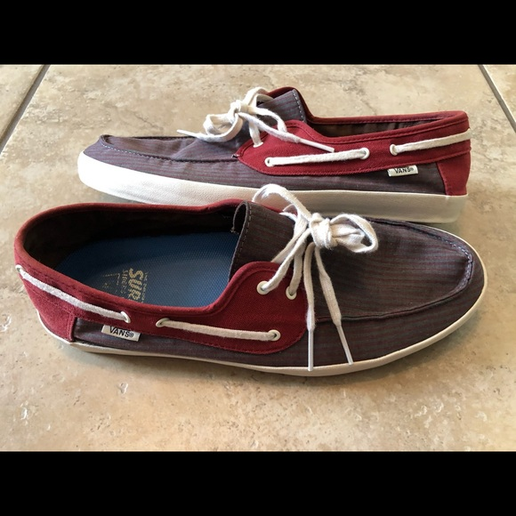 Vans Other - Vans Mens Original Surf Siders Canvas Boat Shoes
